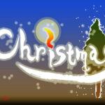 デザイン書道:作品1236「Christmas」
